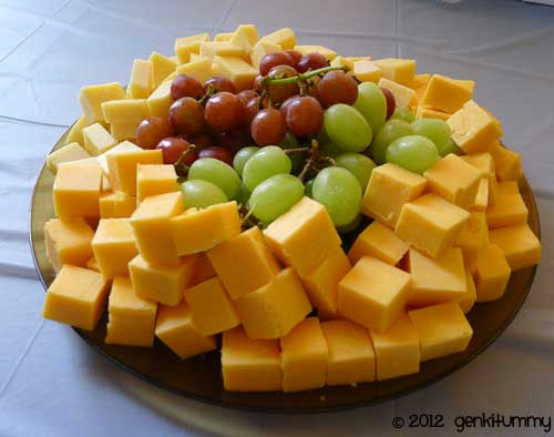 Cheese platter-Mike made this. Cheddar cheese, Dubliner Cheese ...