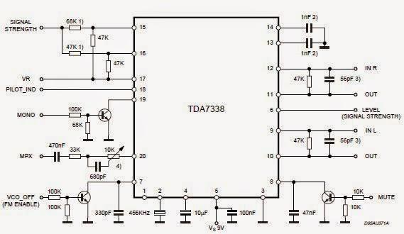 TDA7338 FM stereo decoder circuit design