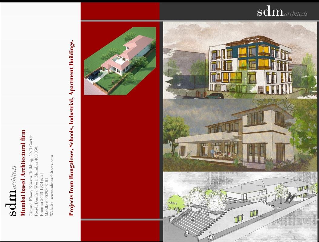 brochures of sdm architects from mumbai india