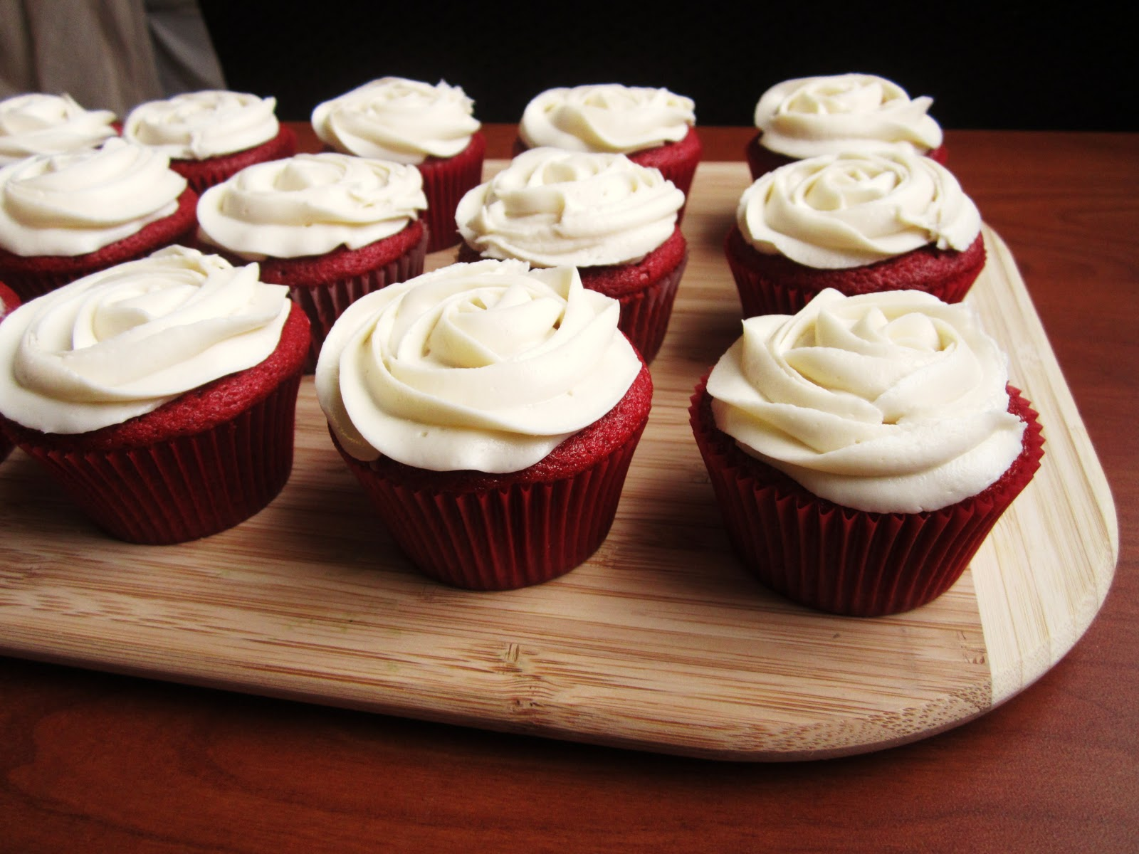 Sue Chef: Red Velvet Cupcakes with Cream Cheese Frosting