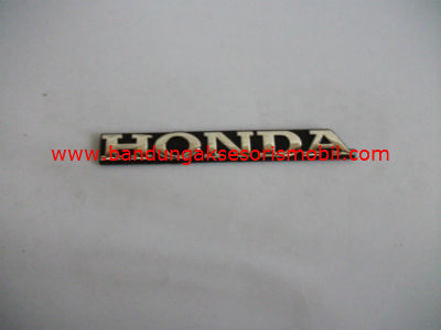 Emblem Tulisan Honda Dasar Hitam