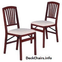 Slat Back Stakmore Wood Folding Chairs