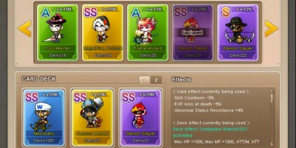 Maplestory Character Cards