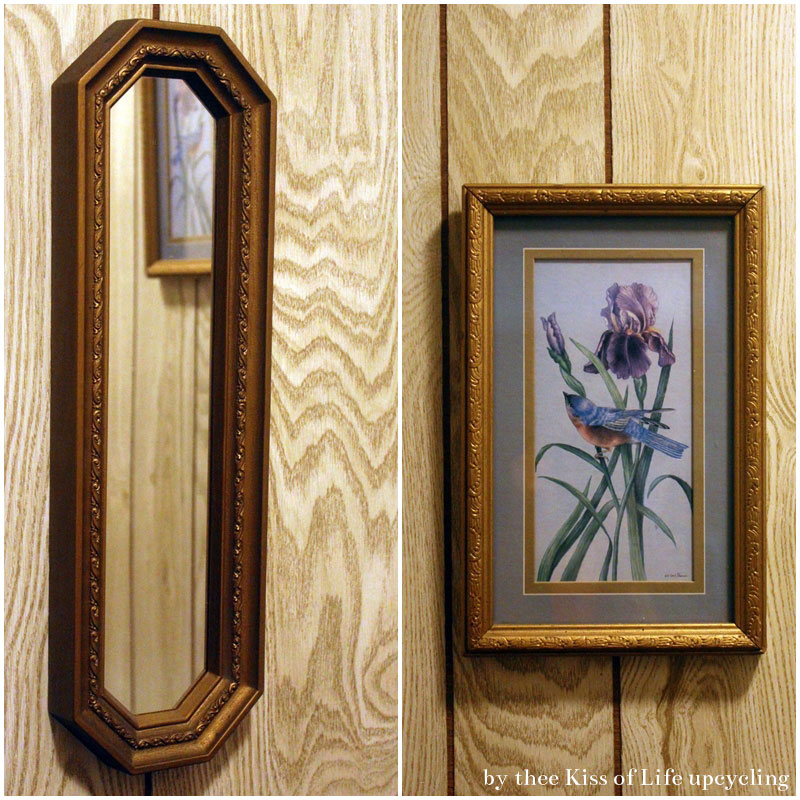 Upcycled Wall Decor | DIY Mirror Glass From Thrift Store Framed Art ...