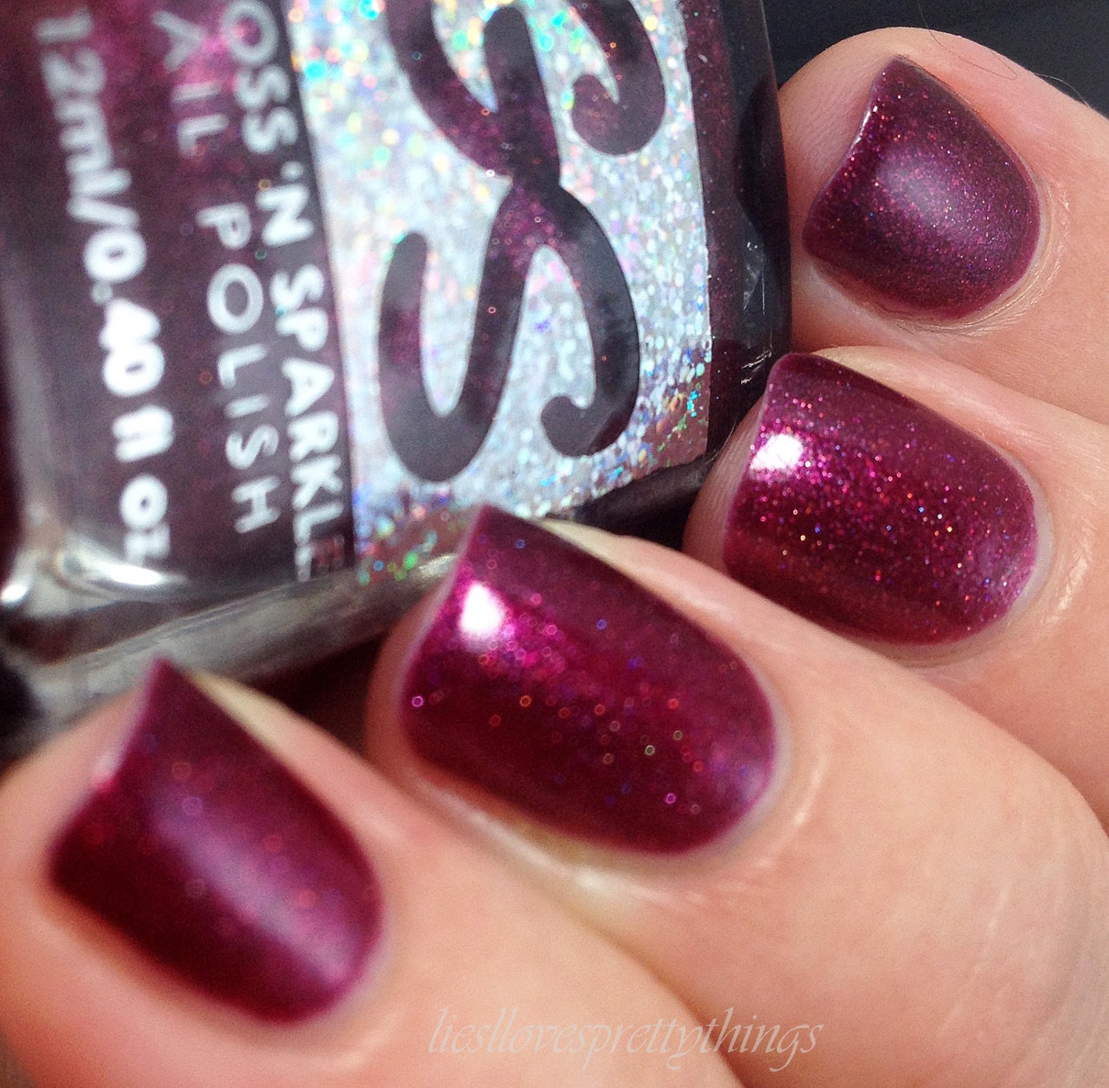 Gloss N Sparkle Harlot swatch and review