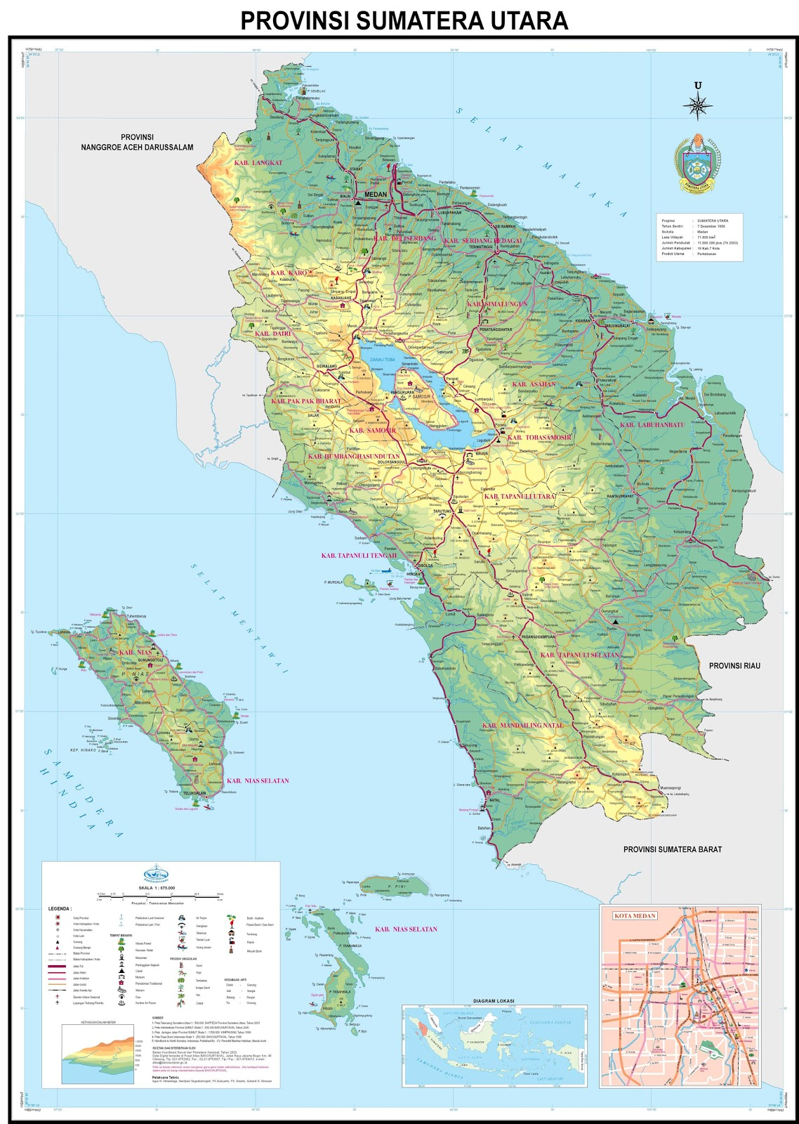 AMAZING INDONESIA: North Sumatra Province Map