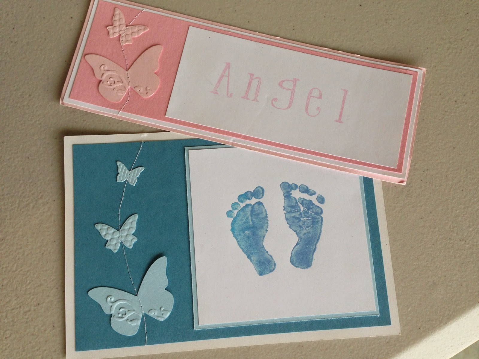 Footprints cards made for the Mater Mothers