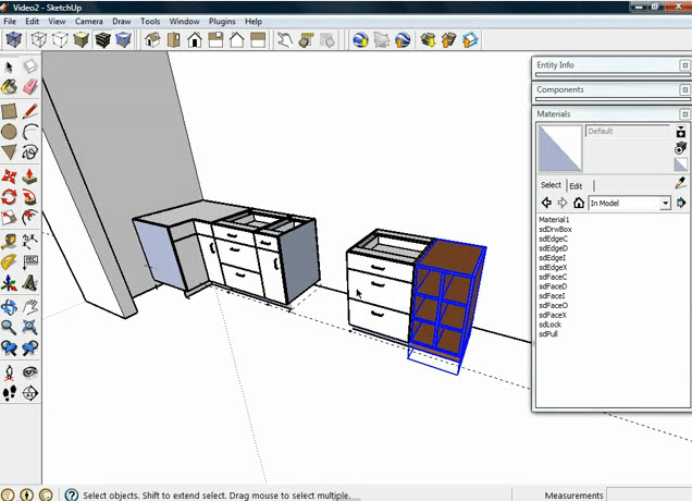How To Cabinets Dynamic Components From Sketchup Kitchen Design Drawing99