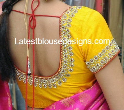 blouse designs for wedding silk sarees