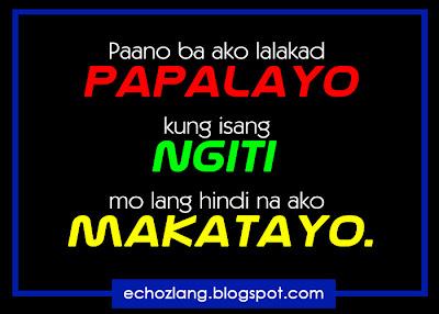 Paano ba ako lalakad papalayo  kung isang ngiti mo lang hindi na ako makatayo.