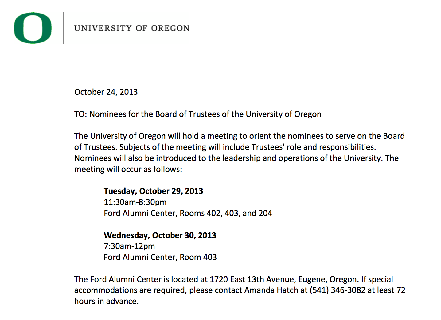 michael gottfredson page 2 uo matters uo trustees will follow oregon public meetings law their website is here and their first meeting is this tuesday should be an interesting one