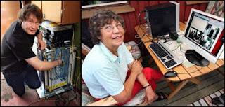 صورة صاحبة مالك أسرع خط إنترنت في العالم the fastest internet connection in the world