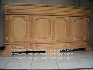Raw wooden sideboard unfinished Indonesia furniture