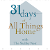 31 Days of All Things Home:  Decorating For Real Life~