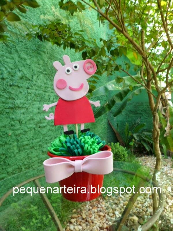 Pequenarteira centro de mesa peppa pig for Mesa de peppa pig