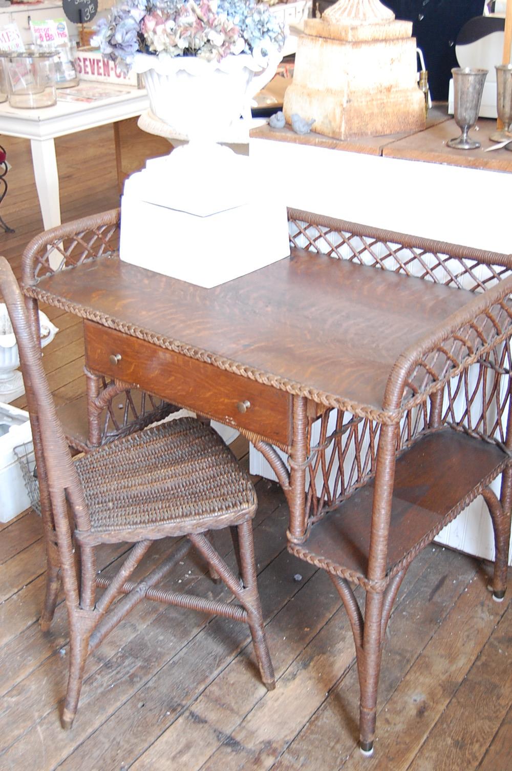 Antique Wicker Desk Antique Furniture - Antique Wicker Office Chair - Antique Wicker Desk Antique Furniture