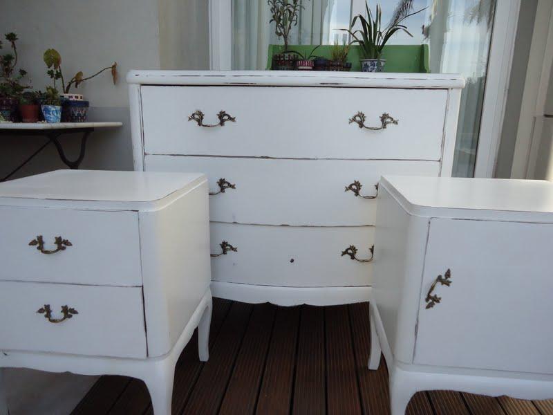 Comodas antiguas blancas fabulous cmoda art dec de tres - Comodas antiguas blancas ...