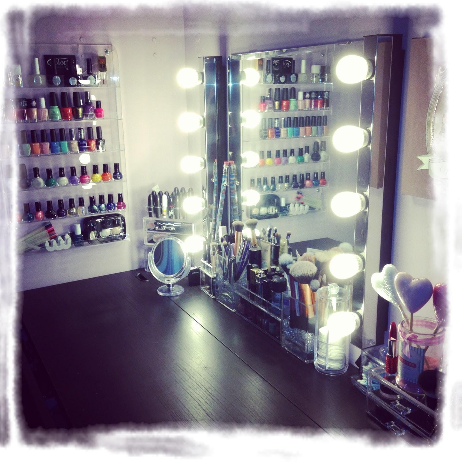 Beauty addict rangement make up mon coin makeup - Rangement acrylique ikea ...