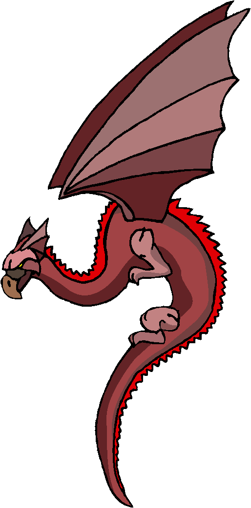 Red Brown Dragon Free Clipart
