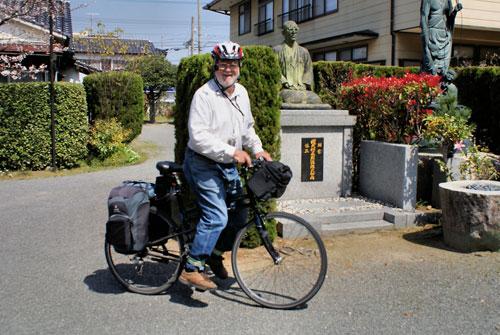 Tony heading off from Kaishinji.