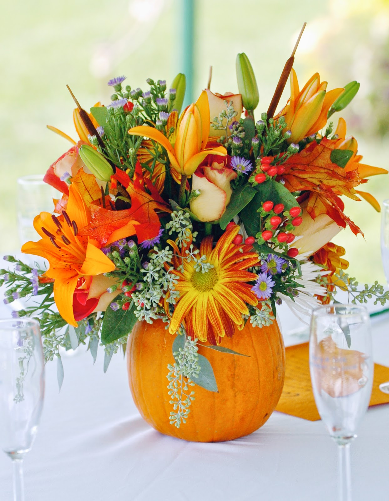 Fall Wedding Flower Centerpieces