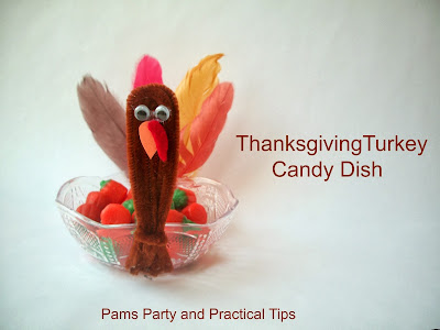Turkey crafts, Thanksgiving crafts, Candy Dish