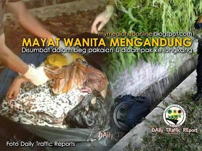 4 GAMBAR Mayat Wanita Mengandung Disumbat Dalam Beg Pakaian