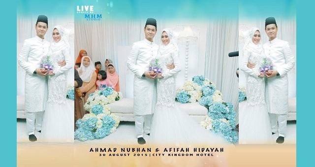 Nubhan, Afifah Hidayah selamat melangsungkan pernikahan (12 Foto)