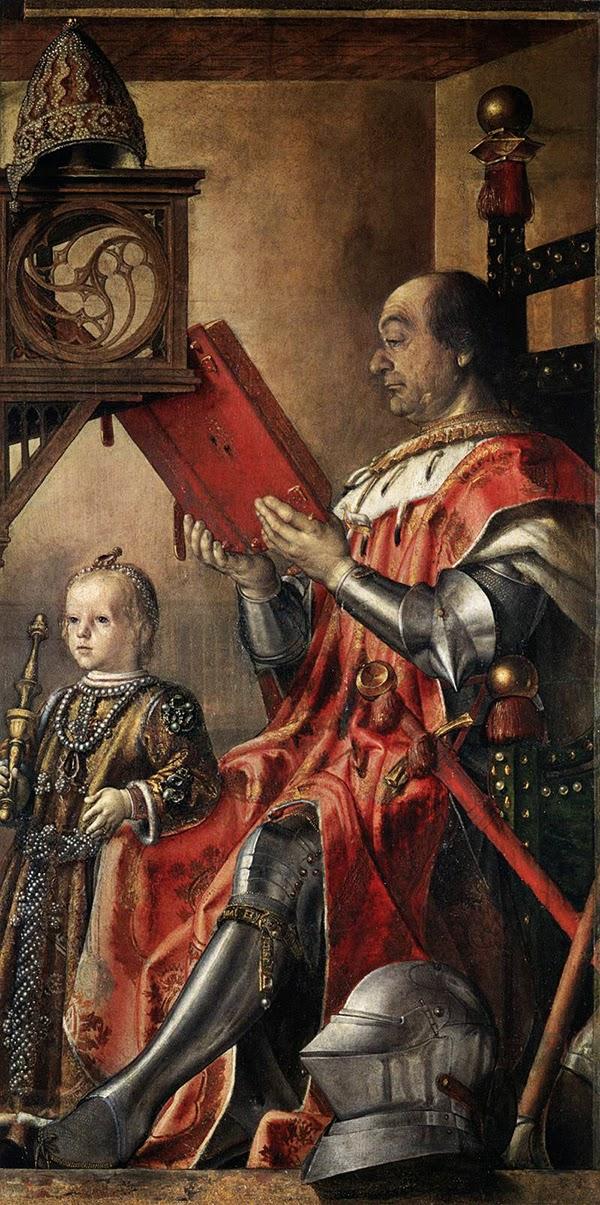 Pedro Berruguete - Federico da Montefeltro y su hijo Guidobaldo
