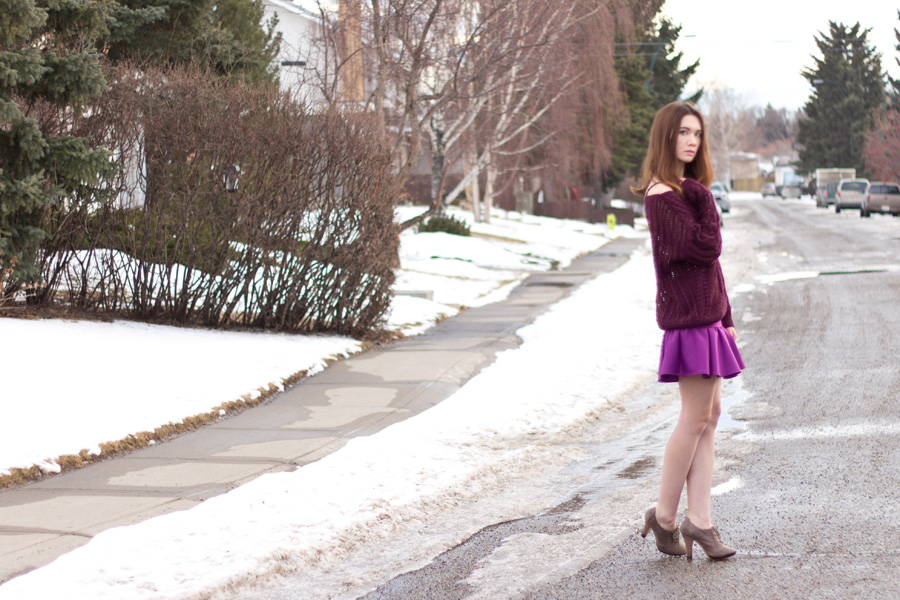 date outfit, valentines outfit, galentines, frilled skirt, oxford booties, calgary fashion