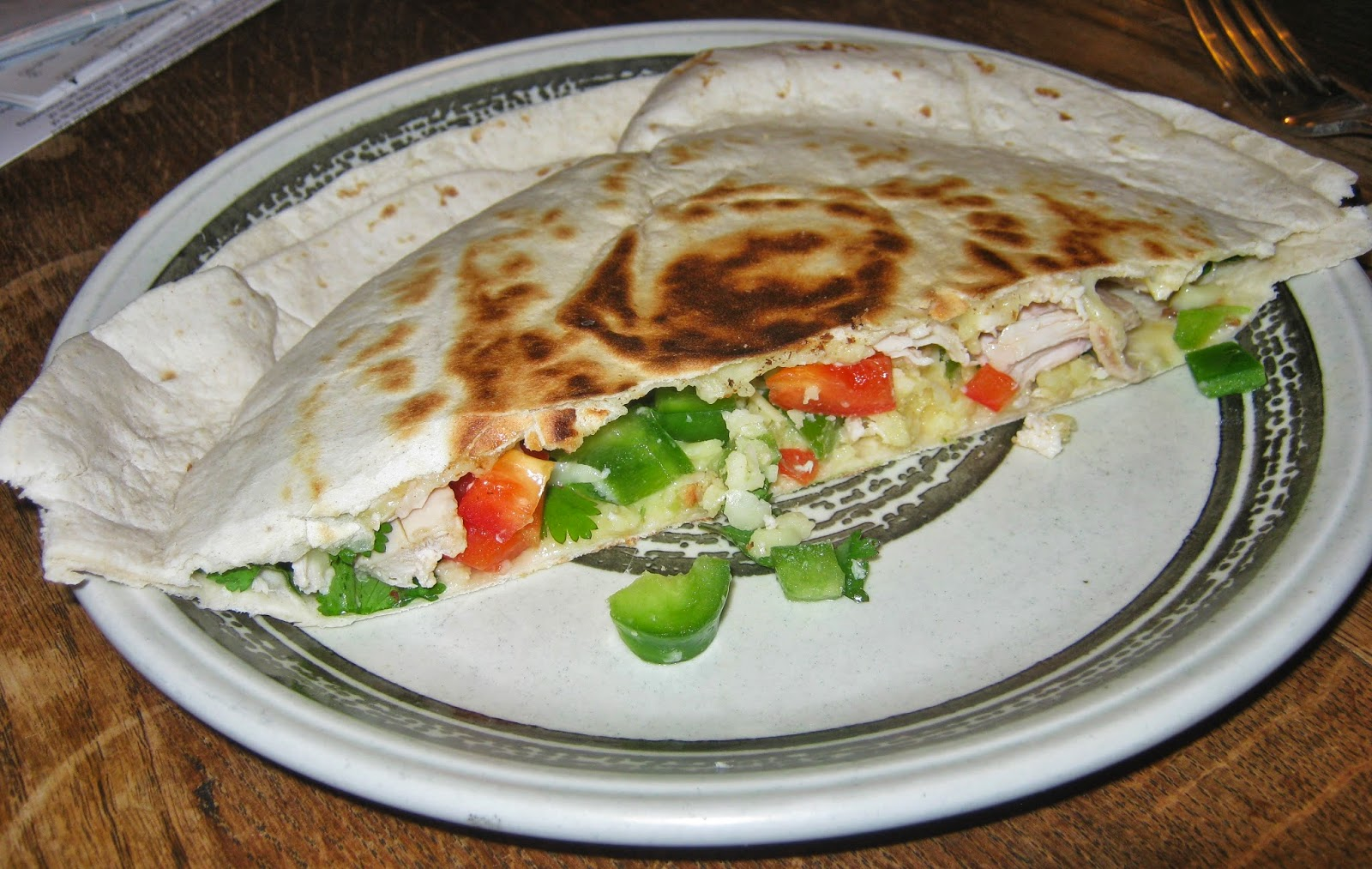Inside the quesadilla