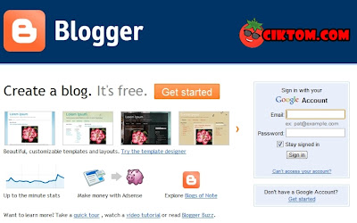 Step 1 buat blog