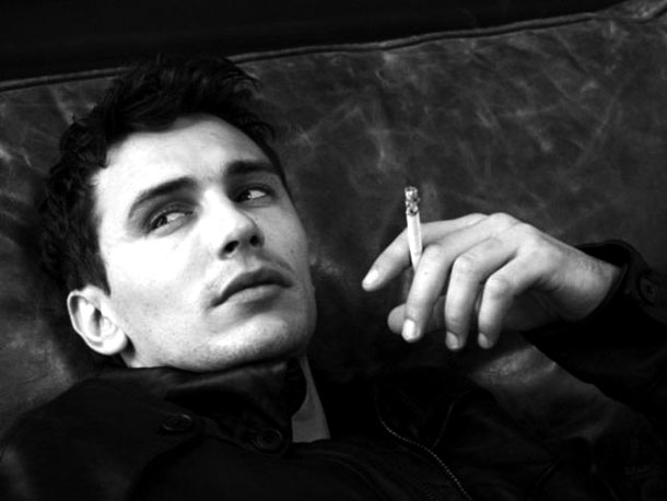Fotografias a preto e branco de celebridades - James Franco