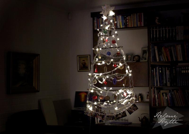 joulukuusi kepeistä diy sisustus