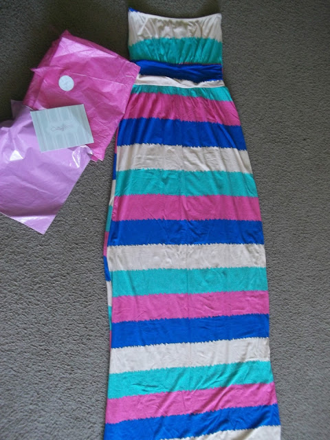 maxi dress, Oakleigh Rose, stripes