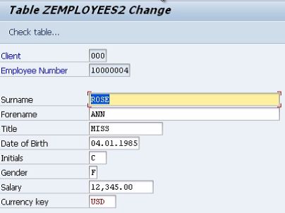 Foreign Keys in SAP ABAP Tables