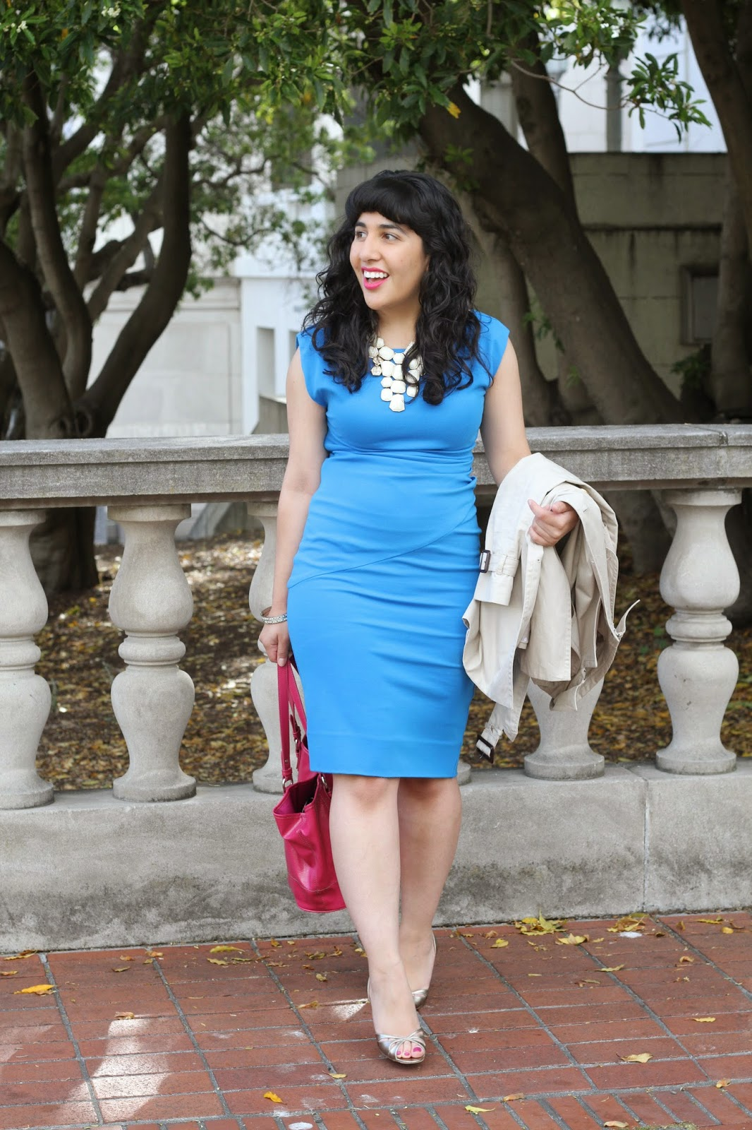 Blue DVF Dress