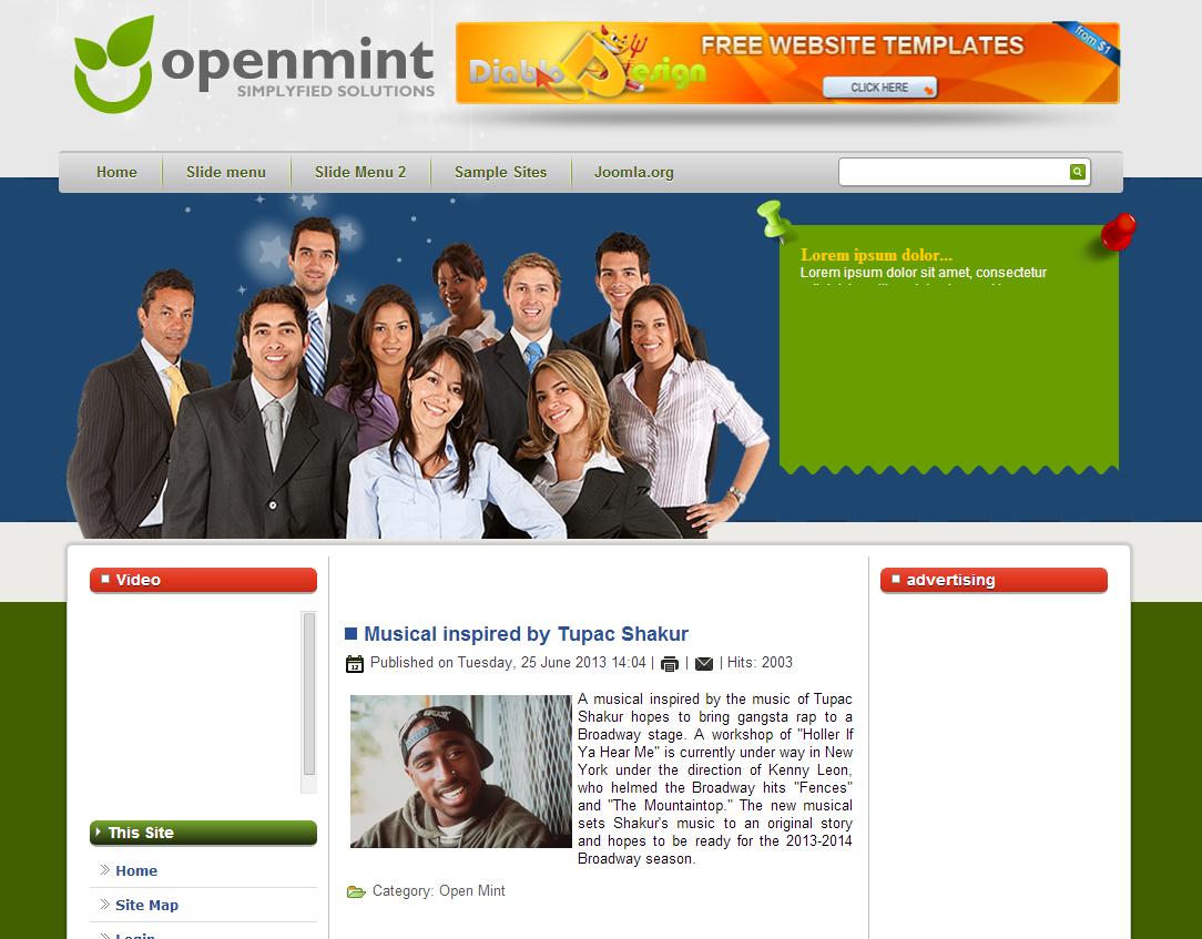 DD OpenMint Free Joomla Template