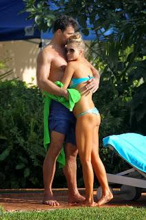 English: Joanna Krupa blue bikini Miami