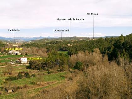 Panoràmica de la zona de la Rabeia i el Pla de Vilamajor des dels camps del Vilar