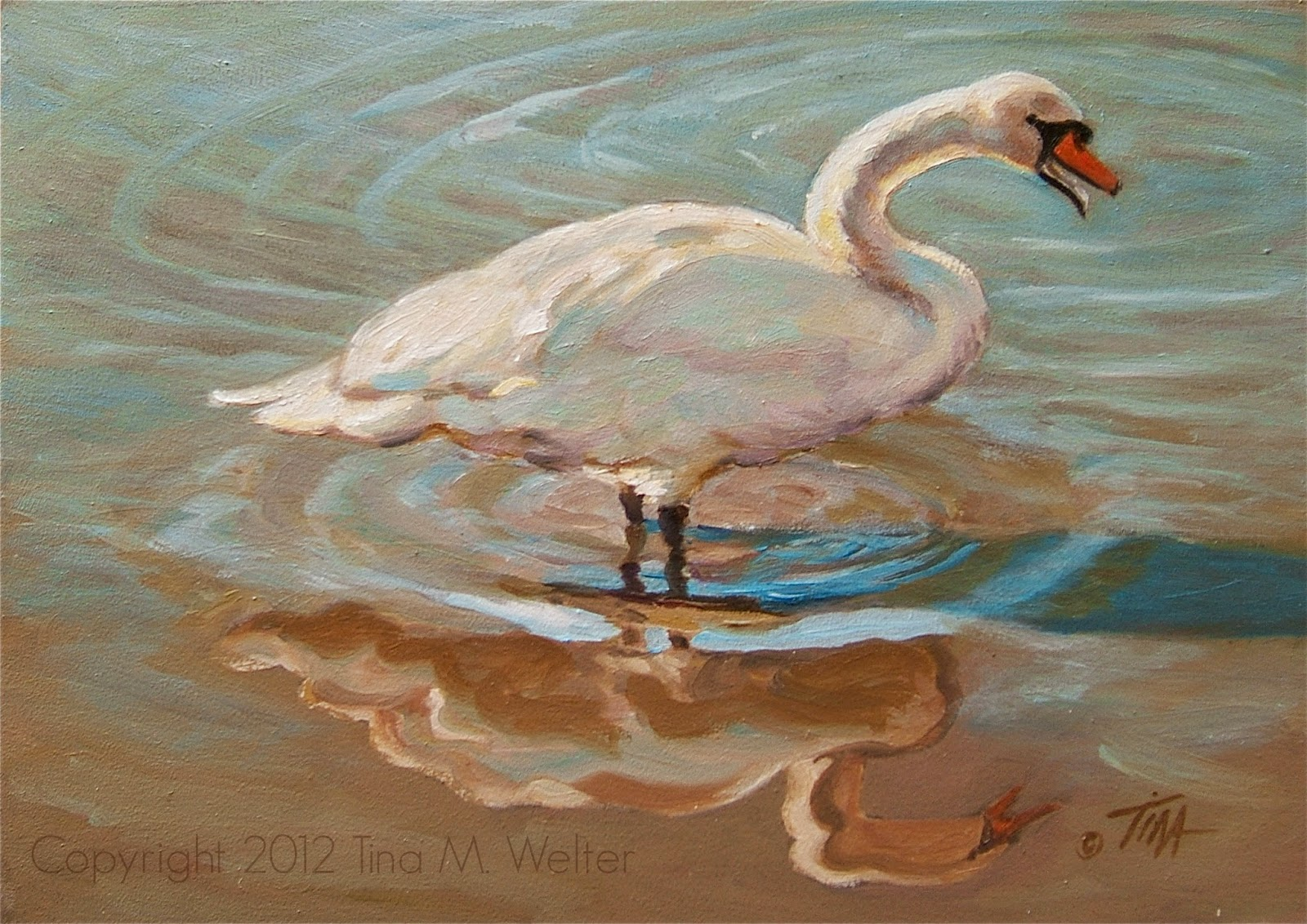 "5""x 7"" oil on ""Gessobord"" copyright 2012 Tina M. Welter."