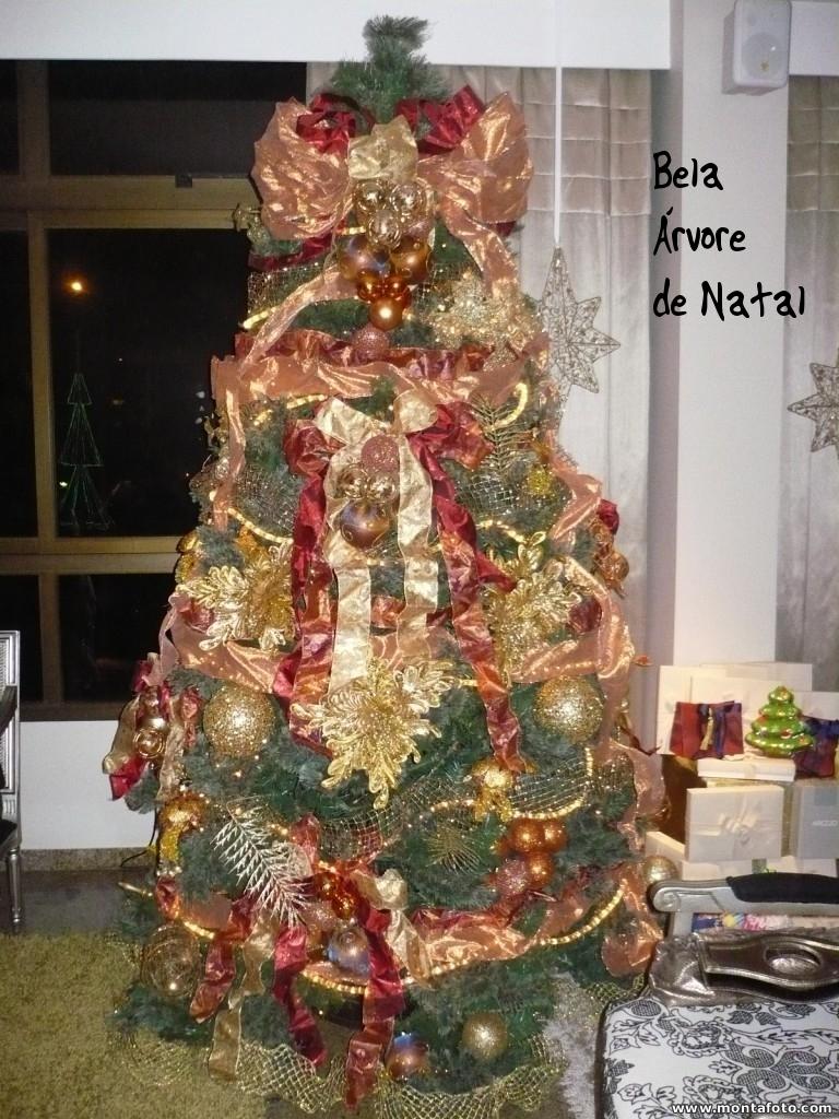 decoracao arvore de natal vermelho e dourado:Elizinha`s Style: Decoração de Natal