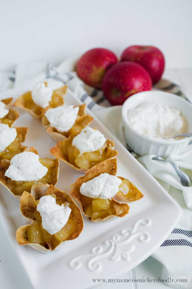 Skinny Mini Apple Pies with Cinnamon Whipped Cream