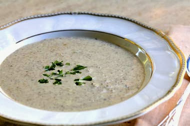 soups in winter? Cream-mushroom-soup