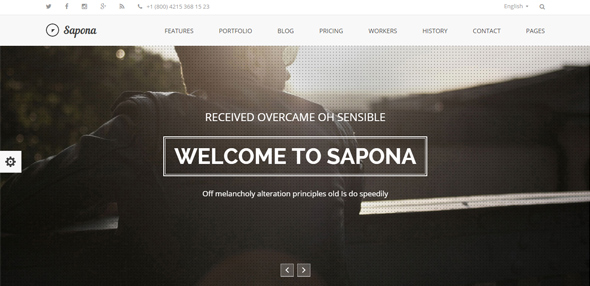 Sapona – One Page Responsive Corporate Theme