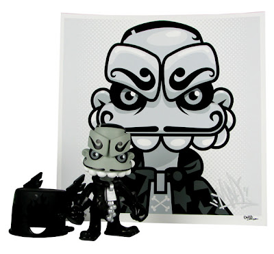"Art Attack Toys Exclusive Dr. Morkenstein Mork Vinyl Figure & ""Evil Mork"" Giclee Print Artist Proof Set by MAD"