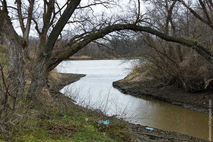 Место впадения ручья в Северский Донец