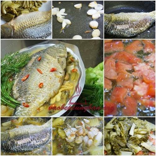 Món Cá chép Om dưa thơm ngon dễ làm 2