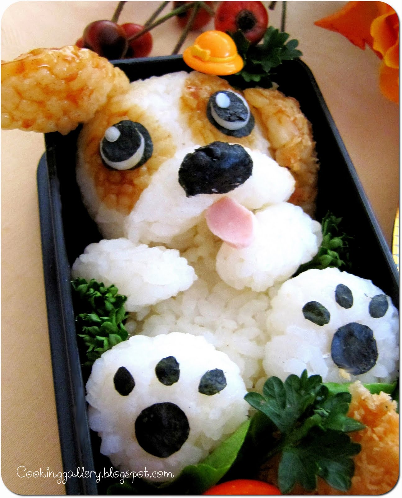 cute puppy bento cooking gallery. Black Bedroom Furniture Sets. Home Design Ideas
