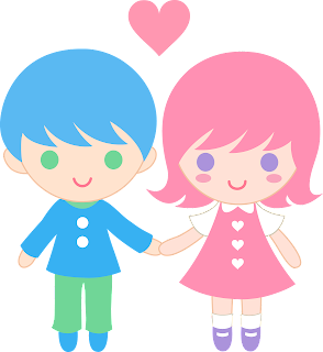 Cartoon Girl and Boy